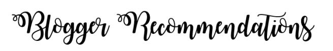 bloggerrecommendations